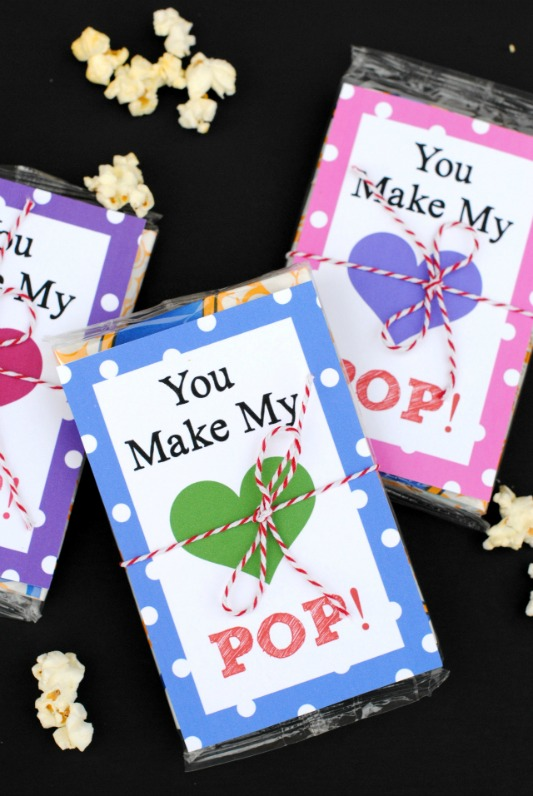You Make My Heart Pop, 30+ Kids Valentine Printables via Giggles Galore