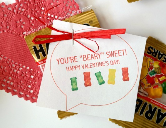 You're Beary Sweet, 30+ Kids Valentine Printables via Giggles Galore