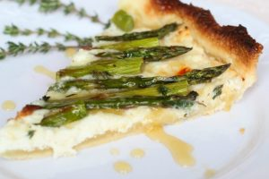 Asparagus Tart with Honey Lemon Sauce