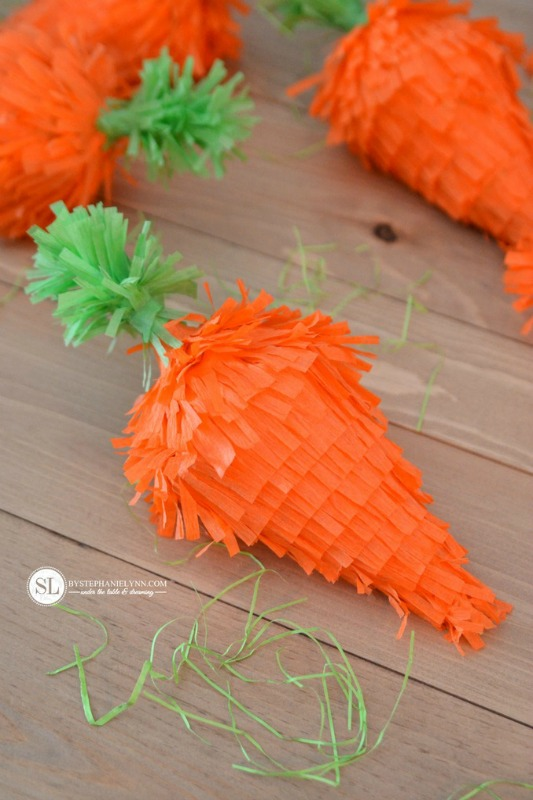 By Stephanie Lynn Mini Carrot Pinatas, 25 Carrot Themed Recipes and Crafts for Easter