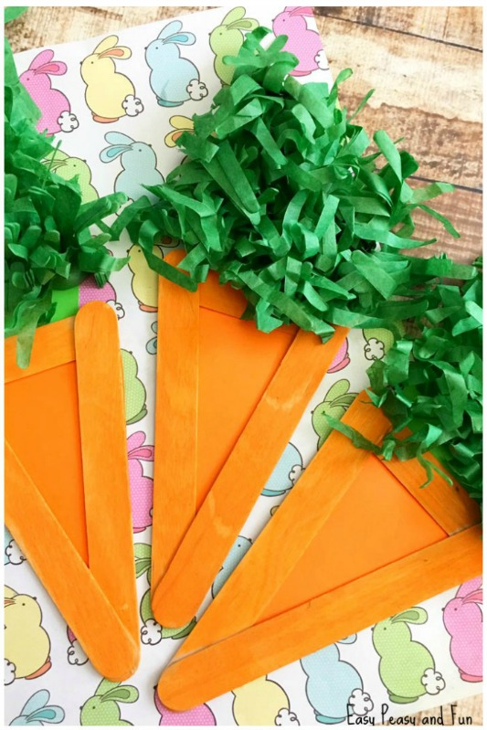 Easy Peasy and Fun Popsicle Carrot Craft, 25 Carrot Themed Recipes and Crafts for Easter