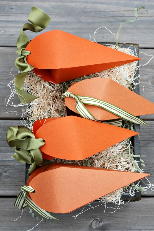 Ella Claire Easter Carrot Favor Boxes, 25 Carrot Themed Recipes and Crafts for Easter
