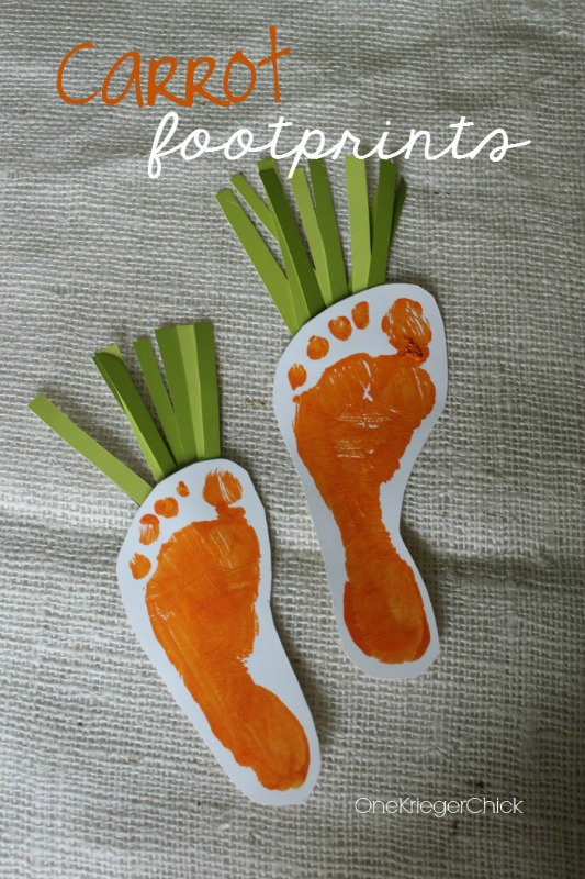 One Kreiger Chick Carrot Footprints, 25 Carrot Themed Recipes and Crafts for Easter