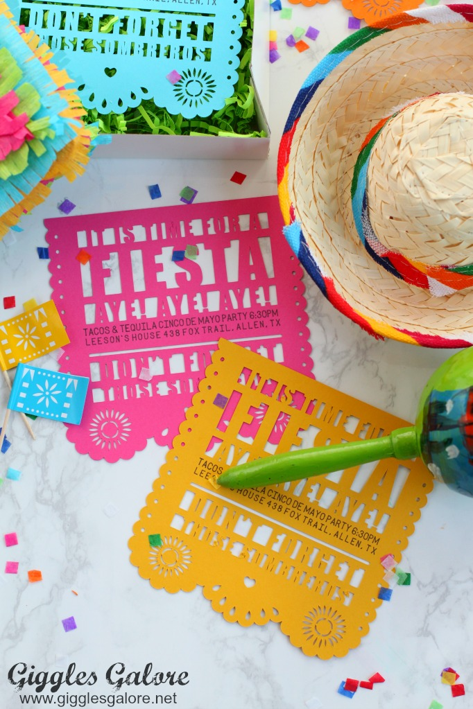 Cricut fiesta invitation