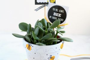 Bee Fingerprint Teacher Appreciation Gift