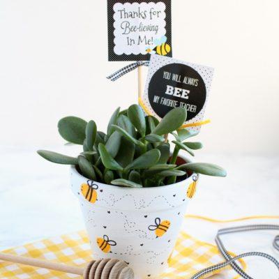Bee Fingerprint Teacher Appreciation Gift