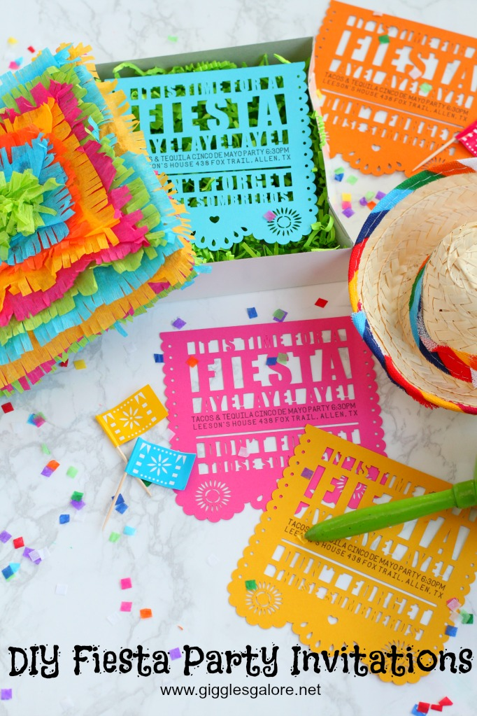 DIY Fiesta Invitation for Cinco de Mayo - Giggles Galore