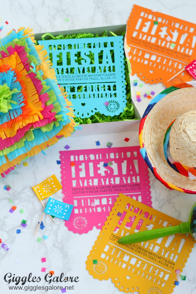 DIY Fiesta Party Invitations