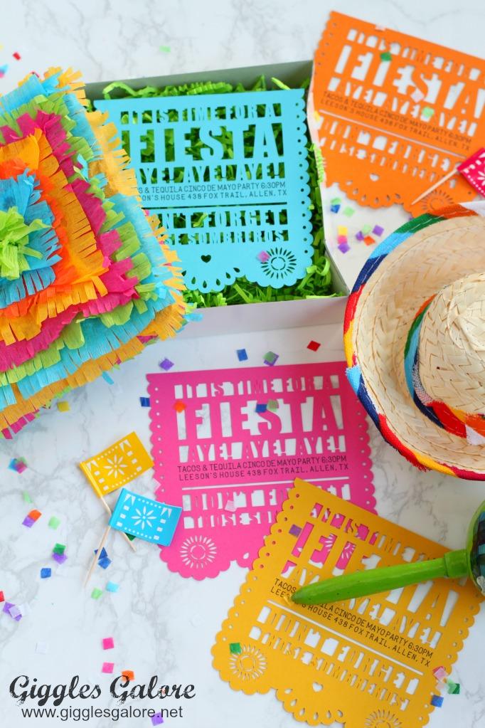 DIY Fiesta Party Invitations