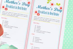 Sweet Mother's Day Breakfast in Bed Ideas