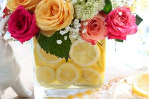 Colorful Spring Lemon Flower Arrangement
