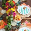 Colorful fiesta dinner party