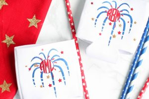 DIY Patriotic Monogrammed Koozies with Cricut Explore Air 2