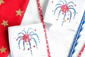 DIY Patriotic Monogrammed Koozies with Cricut Explore Air 2
