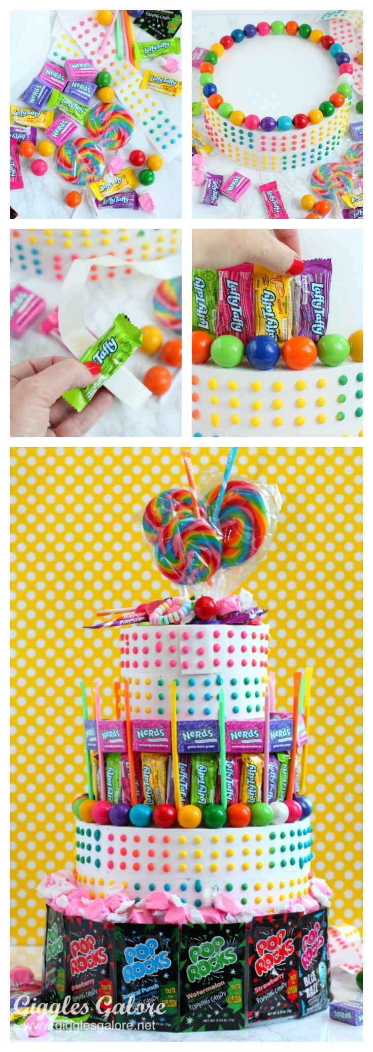 Pleasant How To Make A No Bake Candy Birthday Cake Funny Birthday Cards Online Bapapcheapnameinfo