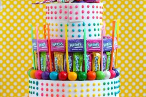 No Bake Candy Birthday Cake