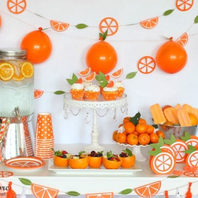 Orange You Glad It's Summer Party with Cricut