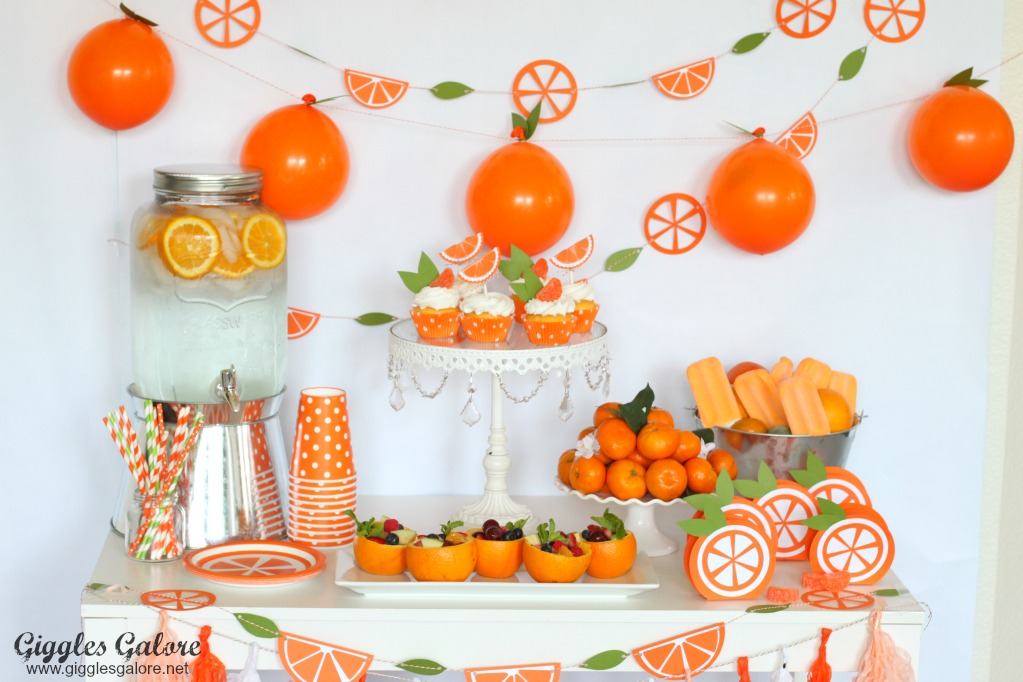 Orange You Glad Its Summer Party With Cricut Giggles Galore
