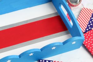 DIY Patriotic Serving Tray