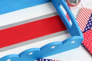 DIY Patriotic Serving Tray