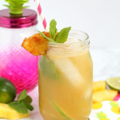 Pineapple Mojito with Spiced Rum