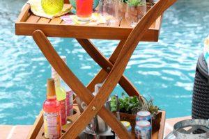 Pool party bar cart
