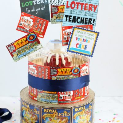 Lottery Ticket Cake Teacher Appreciation Gift
