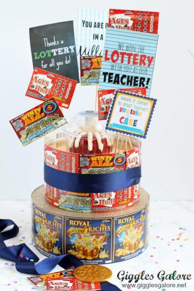 Teacher appreciation lottery cake