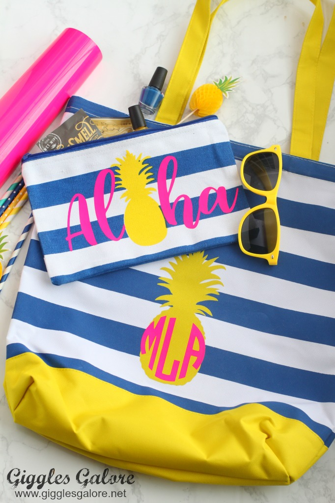 Diy Pineapple Pool Bag Giggles Galore