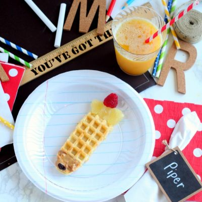Back to School Breakfast Notebook Paper Plates