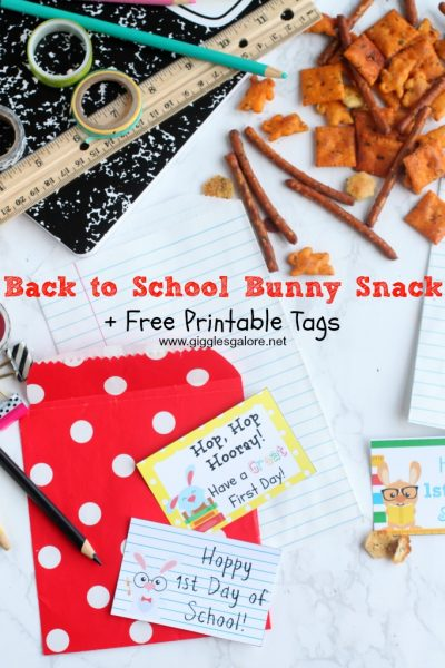 Back to school bunny snack free printable tags giggles galore