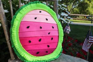 DIY Watermelon Felt Pillow
