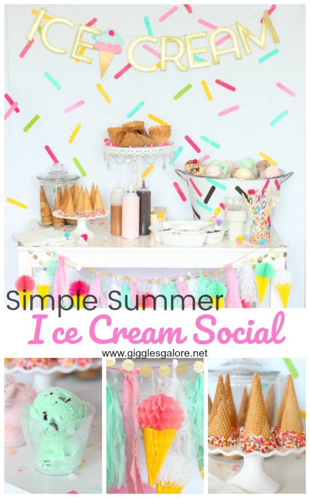 Simple summer ice cream social gg