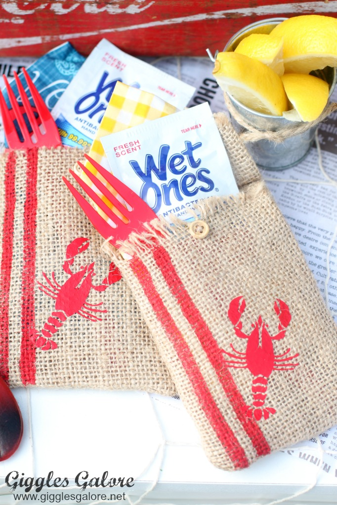 Crawfish boil utensil holders
