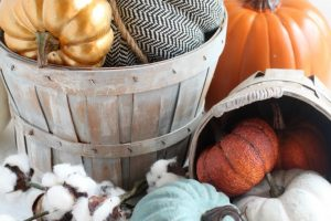 DIY Vintage Farmhouse Style Fall Baskets