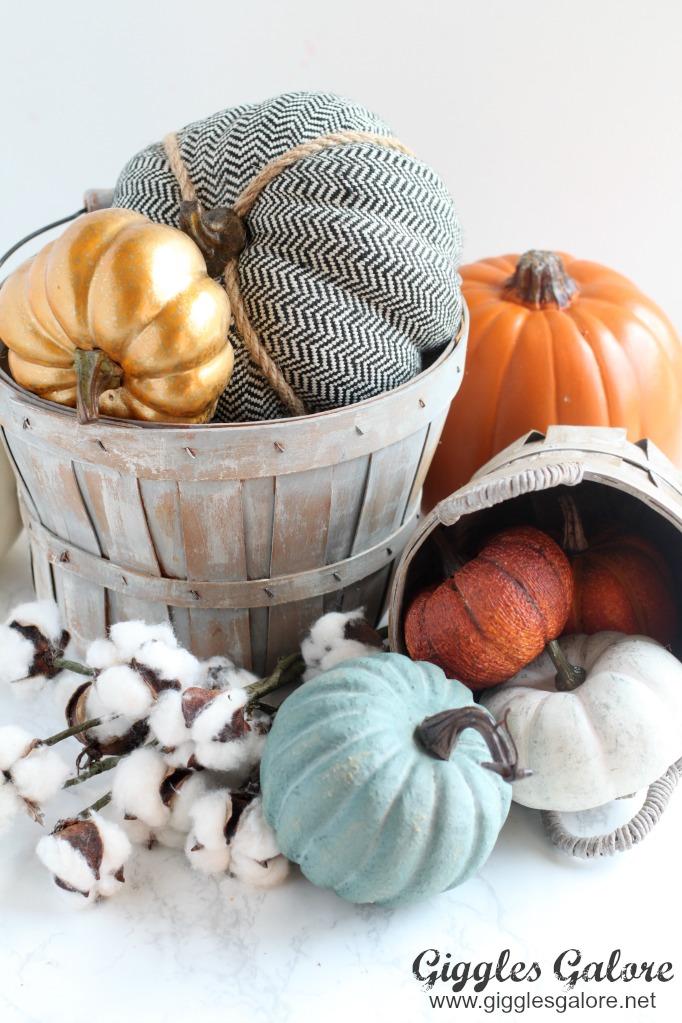 Diy vintage farmhouse buckets pumpkins