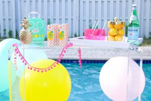 Bright Colorful Labor Day Pool Party