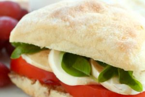 Roasted Garlic Caprese Sandwich