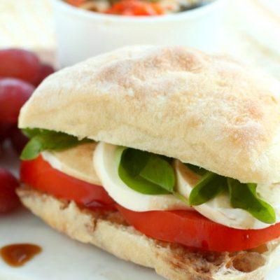 Roasted Garlic Caprese Sandwich