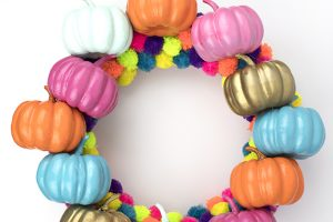 Colorful Fall Pumpkin Wreath