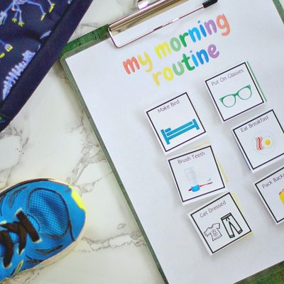 School Morning Routine Checklist With Free Printable