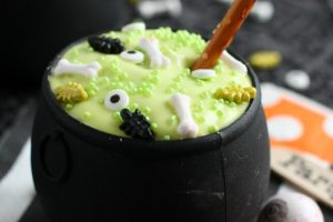 Bubbling Key Lime Mousse Cauldrons