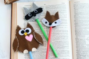 Cute felt woodland pencil toppers