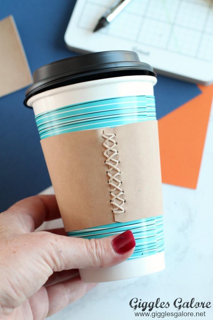 Diy Fall Leather Coffee Cup Sleeve