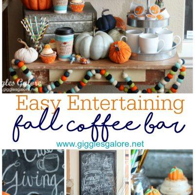 Easy Entertaining: Fall Coffee Bar