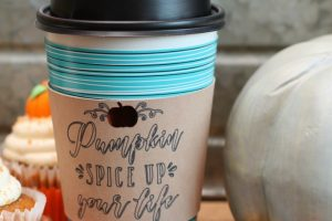 DIY Fall Leather Coffee Cup Sleeve