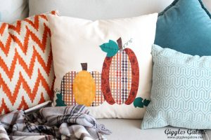 Patchwork Pumpkin Pillow with Cricut Maker