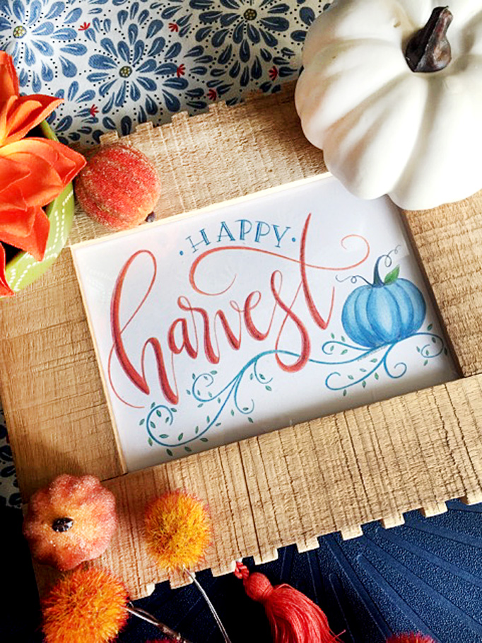 Free Happy Harvest Printable Sign