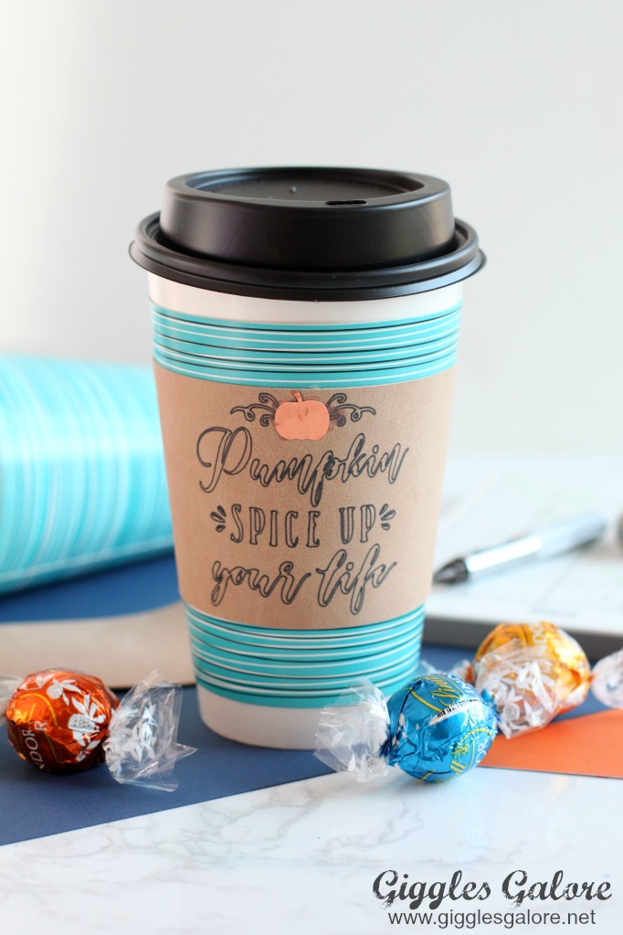83ad1ffbeaa Fill it with your favorite fall blend or make a delicious caramel pumpkin  spice latte and enjoy! This simple DIY makes a great gift for your pumpkin  loving ...