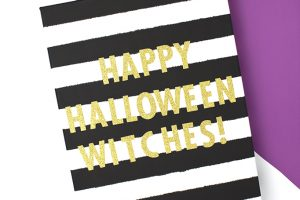 Striped Happy Halloween Sign